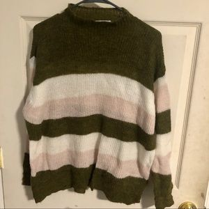 Mango | Color Strip Mohair Sweater